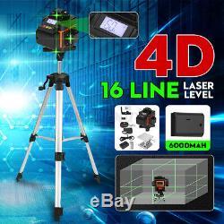 4d 16 Ligne Verte Laser Auto Level Autolissant 360 ° Rotary Croix De Mesure