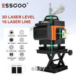4d 16 Lignes Green Laser Level Auto Self Leveling 360° Rotary Cross Measurement Tool