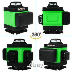 4d 16 Lignes Green Laser Level Auto Self Leveling Rotary Cross Measurement Avec Le Cas