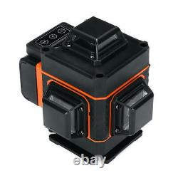4d 16 Lignes Niveau Laser Lumière Verte Auto-nivelage Mesure Rotative À 360° Avec Rc