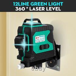 4d 16 Line / 3d 12 Line Light Laser Level Auto Self Leveling Mesure Rotative À 360°