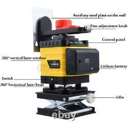 4d 360 ° 16 Lignes Laser Vert Niveau Auto Autolissant Rotary Cross Mesure