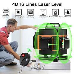 4d Rotary 16 Lignes Autolissant Laser Niveau Horizontal Vertical Outil De Mesure
