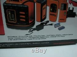 600 $ Johnson Autolissant Rotary Laser Level Kit 40-6539 Mis Tout Neuf Dans La Boîte