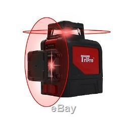 8 Lignes 360 ° 3d Autolissant Niveau Laser Rotatif Multi Ligne Extérieure + Trépied