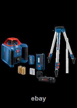 Bosch 1000 Pieds Red Beam Auto-niveau Rotary 360 Laser Level Kit Grl1000-20hvk