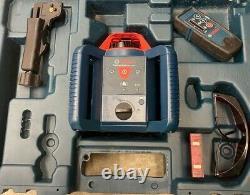 Bosch 800ft Auto Nivellement Rotary Laser Level Kit (grl800-20 Hvk-rt) Vendu Comme Is