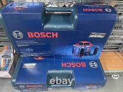 Bosch Grl1000-20hvk-rt-3 3x Kit Laser Rotaire Auto-niveau 1000' Nouveau Dans Le Cas