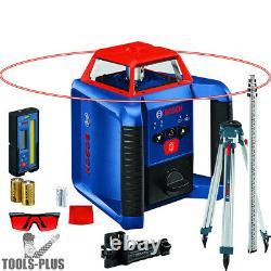 Bosch Grl2000-40hk Revolve2000 Auto-nivellement Horizontal Rotary Laser Kit Nouveau