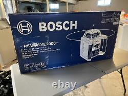 Bosch Grl2000-40hk Revolve 2000 Kit Laser Rotatif Horizontal D'auto-niveautage Nouveau