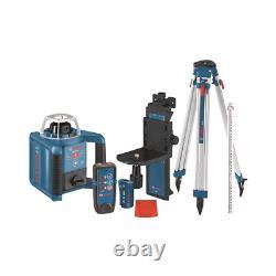 Bosch Grl300hvck Laser Rotatif À Nivellement Automatique Avec Layout Beam Complet Kit