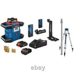 Bosch Grl4000-80chvk 18v Auto Nivellement Horizontal / Vertical Rotary Laser Kit