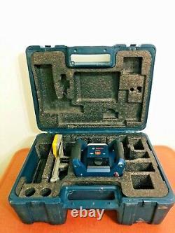 Bosch Grl400h Laser Rotatif À Nivellement Automatique Avec Boîtier Et Récepteur Spectral H320