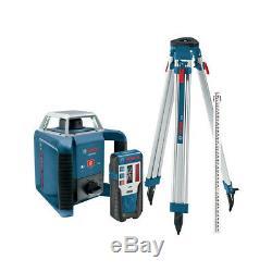 Bosch Grl400hck 360 Degrés Autolissants Laser Rotatif Récepteur / Tri-pod / Rod Kit