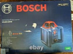 Bosch Grl800-20hvk Autolissant Rotary Laser Kit Nouveau! (cr)