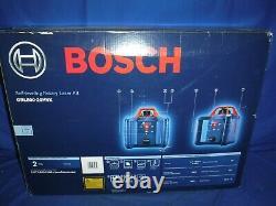 Bosch Grl800-20hvk Self Leveling Rotary Laser Kit 800ft. +-3/16 Nouveau