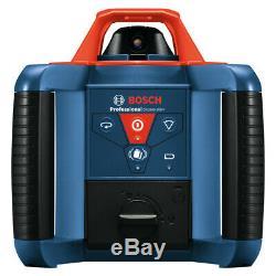 Bosch Grl900-20hvk Autolissants Laser Rotatif Kit (2) D & (3) Aaa Batt. Nouveau