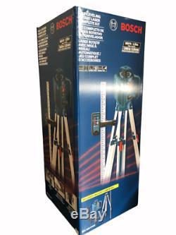 Bosch Grl 245 Hvck 800 Pieds Autolissant Niveau Laser Rotatif 5 Piece Kit Nouveau