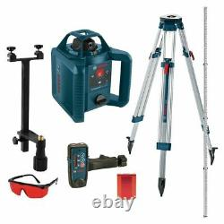 Bosch Grl 800 Pieds Hvck 245 Autolissant Niveau Laser Rotatif 5 Pc Kit (closeout)