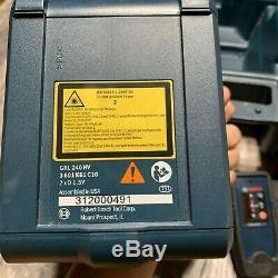 Bosch Pro Rotary Autolissant Laser 800 Pieds Grl 240 Hv / Lr 24 Télécommande / Hard Case