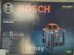 Bosch (grl800-20hvk) Kit Laser Rotary 800ft Auto Nivellement Brand New