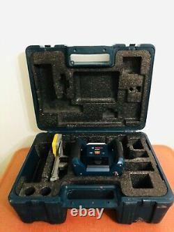 Boschgrl400h Laser Rotatif À Nivellement Automatique Avec Boîtier Et Récepteur Spectral H320