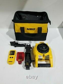 Dewalt 150 Pi Red Self-leveling Rotary Laser Level With Detector Dw074kd
