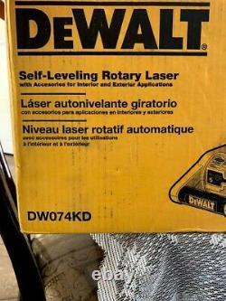 Dewalt 150 Pi Rouge Auto-nivellement Niveau Laser Rotatif Avec Détecteur - Pince, Mur