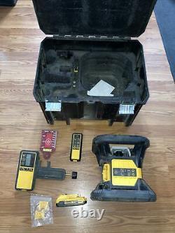 Dewalt 20v Max Li-ion 200ft Red Self Leveling Rotary Laser Level Dw079lr Kit