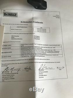 Dewalt Dce074d1r 18v xr Autolissant Rouge Rotary Laser Kit 457m + Détecteur