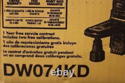 Dewalt Dw074kd Intérieur Et Laser Rotatif Extérieur Auto-nivellement Avec Accessoires
