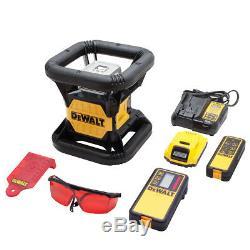 Dewalt Dw079lr 20-volt 2000 Pieds Gamme Sans Fil Autolissants Rouge Laser Rotatif
