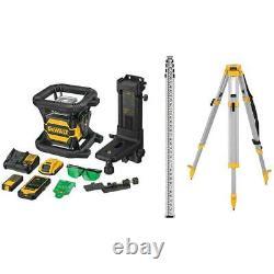 Dewalt Dw080lgsk 20v Max Self Leveling Ip67 Tool Connect Green Rotary Laser Kit