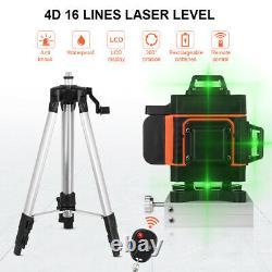 Faisceau Vert 4d 16 Lignes Laser Level Auto Self Leveling Rotary Cross Measure Xc471