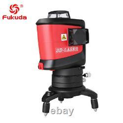 Fukuda 12lines 3d Laser Level Auto Nivelant Rotatif +récepteur Extérieur