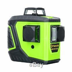 Fukuda Niveau Laser Rotatif 360 12 Lignes Autolissants Mw-93t New Faisceau Vert Lazer