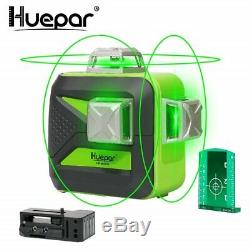 Huepar 3d Cross Ligne Niveau Laser Rotatif Green Cross Laser Line Autolissant 40m