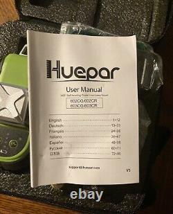 Huepar 603-cg Green Rotary Laser Niveau Cross Line Auto-nivelage Professionnel