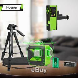 Huepar 603cg Autolissants Rotary Grade Laser Niveau Avec Trépied Et Kit Récepteur