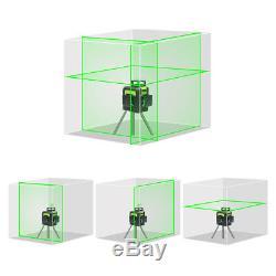 Huepar Niveau Laser Rotatif Croix Verte Ligne Horizontale Verticale De Mesure 147ft