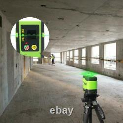 Huepar Rotary 3d Cross Line Auto Nivellement Laser Level Green Beam 3360 12 Lignes