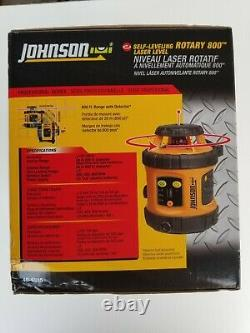 Johnson 40-6515 Auto-nivellement Rotary 800 Laser Level. (nouveau Dans La Boîte)