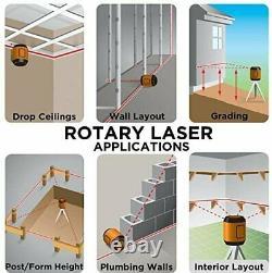 Johnson Level & Tool 99-006k Kit De Système De Laser Rotatif À Nivellement Automatique, Doux