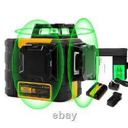 Kaiweets 3d 3x 360° Auto-nivelage Rotary Green Niveau Laser Batterie Au Lithium