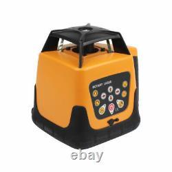 Kit De Niveau De Laser Rotatif Électronique Automatique D'extérieur 500m Avec Boîtier