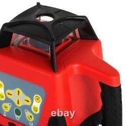 Kit Rotatif/rotatif De Niveau Laser Rouge Avec Boîtier 360° Auto-nivellement 500m Portée