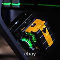 Laser Rotatif 3 X 360 Lignes Laser Auto-niveau Et Pivotement Magnétique Base Et Batterie