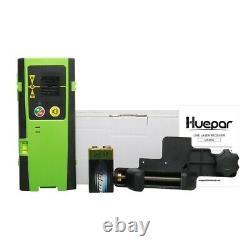 Laser Rotatif Huepar Niveau Vert Cross Line Laser Auto-niveautage Laser + Récepteur