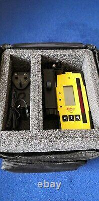 Leica Rugby 610 Rotary Laser Level Rod Eye 120 Carry Case
