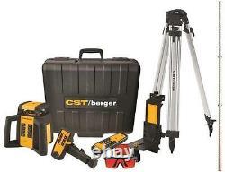 New Cst Berger Rl25hvck USA Made 2 Faisceau Laser Rotatif Autolissant Niveau Vente